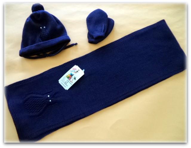 gorro,bufanda,manopla azul marino