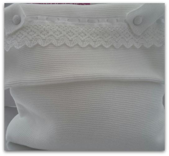 Bolso carrito bebe blanco