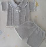 conjunto verano pantalón corto gris