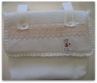 beige baby carriage bag