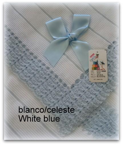 Toquilla bebe blanco/azul