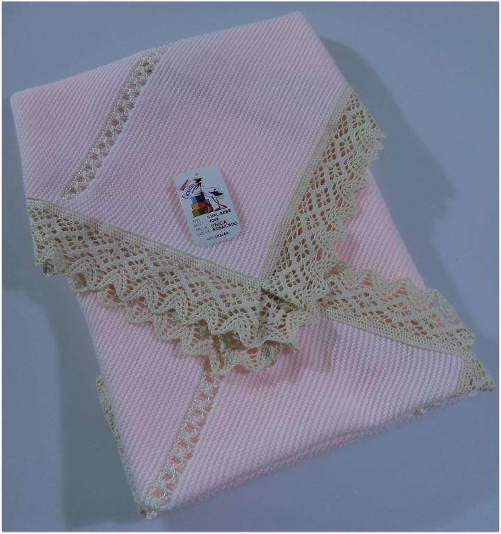 toquilla niña rosa/beig