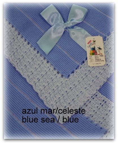 Toquilla bebe azul mar/azul