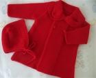 abrigo bebe rojo