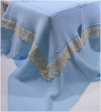 shawl blue / beige baby