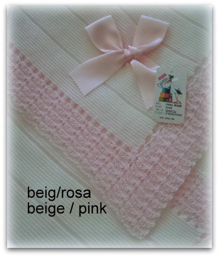 Toquilla bebe beig/ rosa