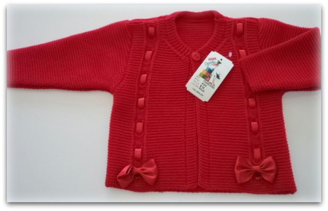 chaqueta niña rojo