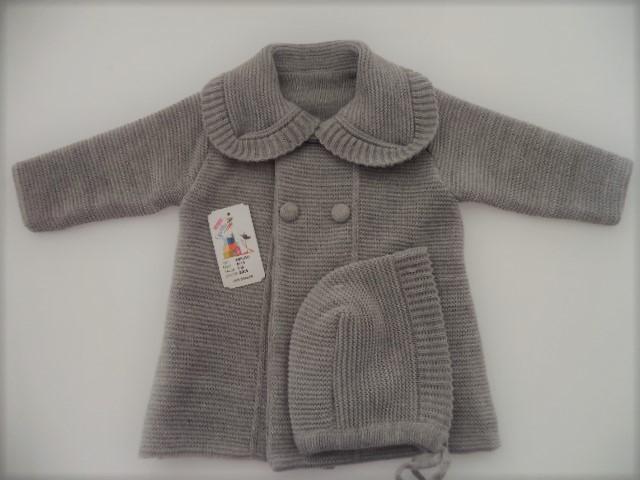 abrigo bebe gris