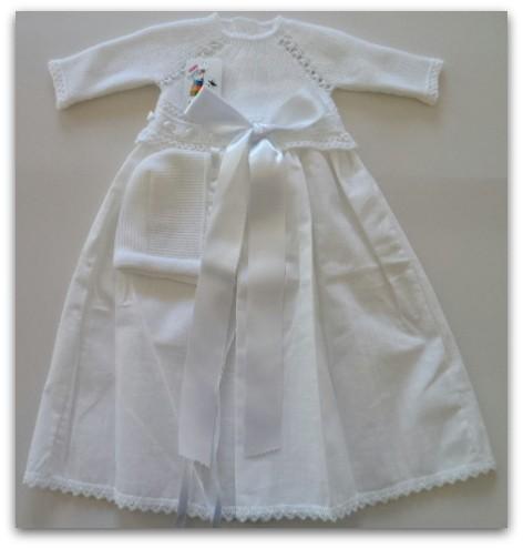 Faldon bebe vereno blanco