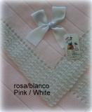 Toquilla bebe rosa/blanco