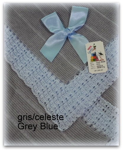 Toquilla bebe gris/azul