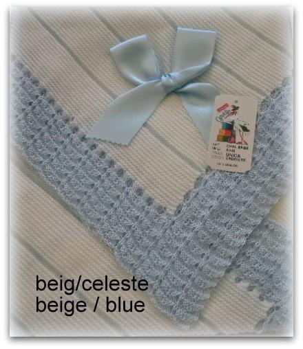 Toquilla bebe beig/azul